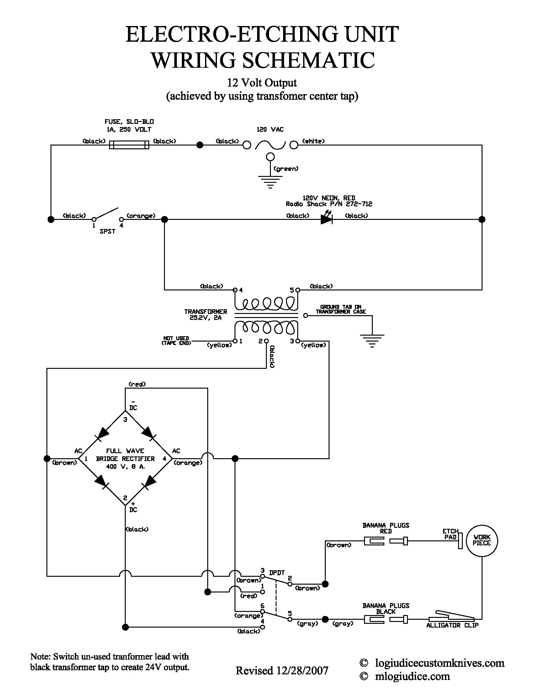Electro Etcher Circuit