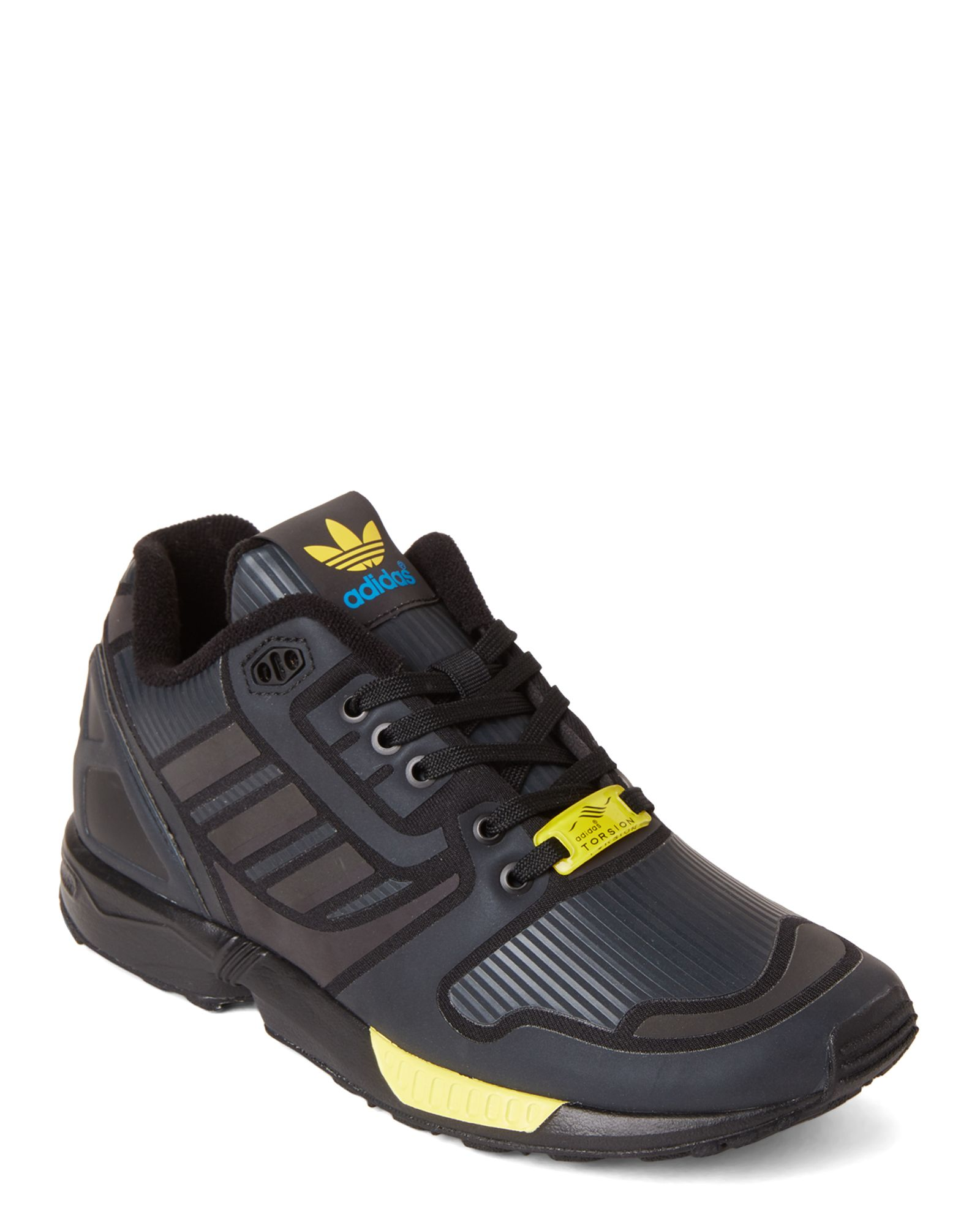 b42a359ce0a0a Adidas (Kids Boys) Core Black ZX Flux Reveal Low-Top Sneakers