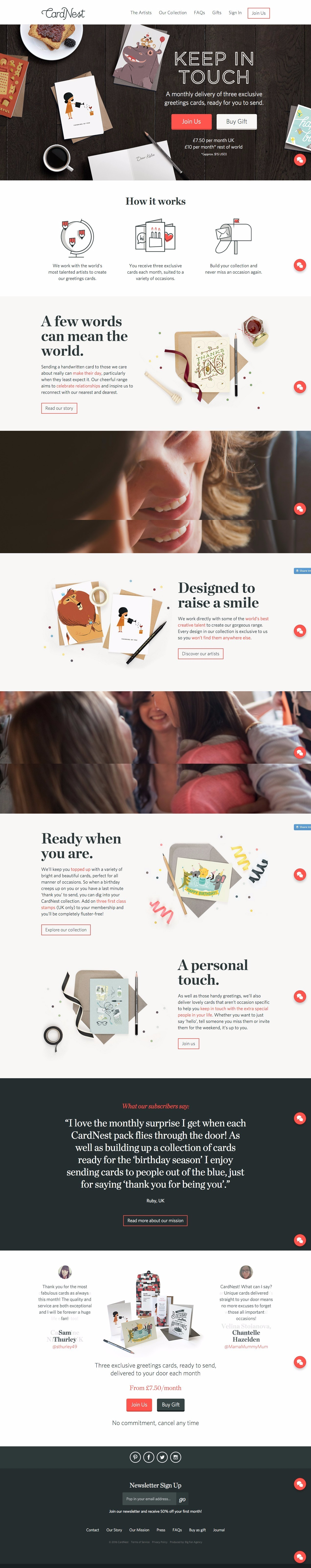 Cardnest greeting cards subscription web design pinterest cardnest greeting cards subscription m4hsunfo