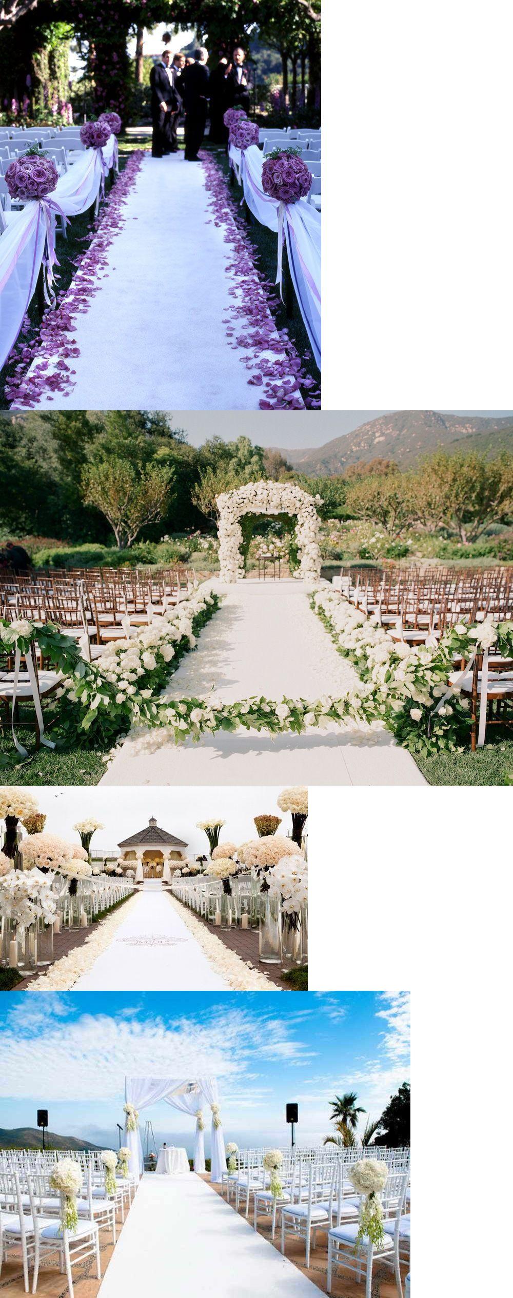 Aisle runners 102423 outdoor wedding aisle runner white