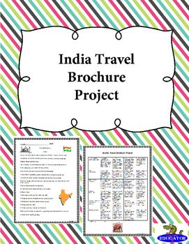 india travel brochure project student project with rubric students create a travel guide on india on a tri fold construction paper