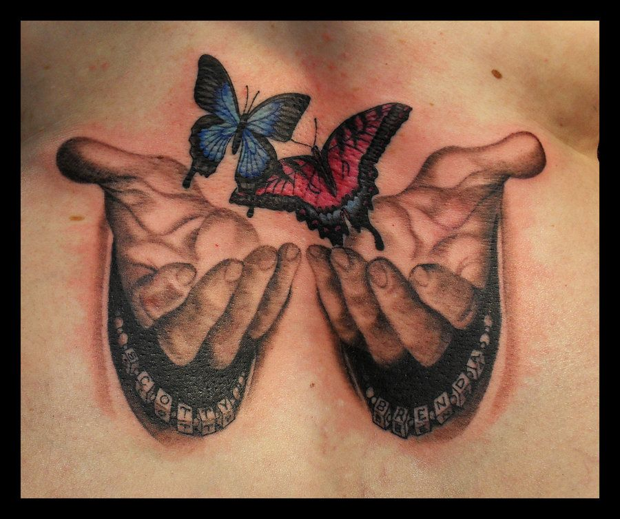 Hands Of God Butterfly Tattoo By Jasonhanks On Deviantart Hand Tattoos Butterfly Tattoo Designs Tattoos
