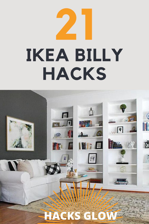 21 BRILLIANT IKEA BILLY BOOKCASE HACKS In 2020