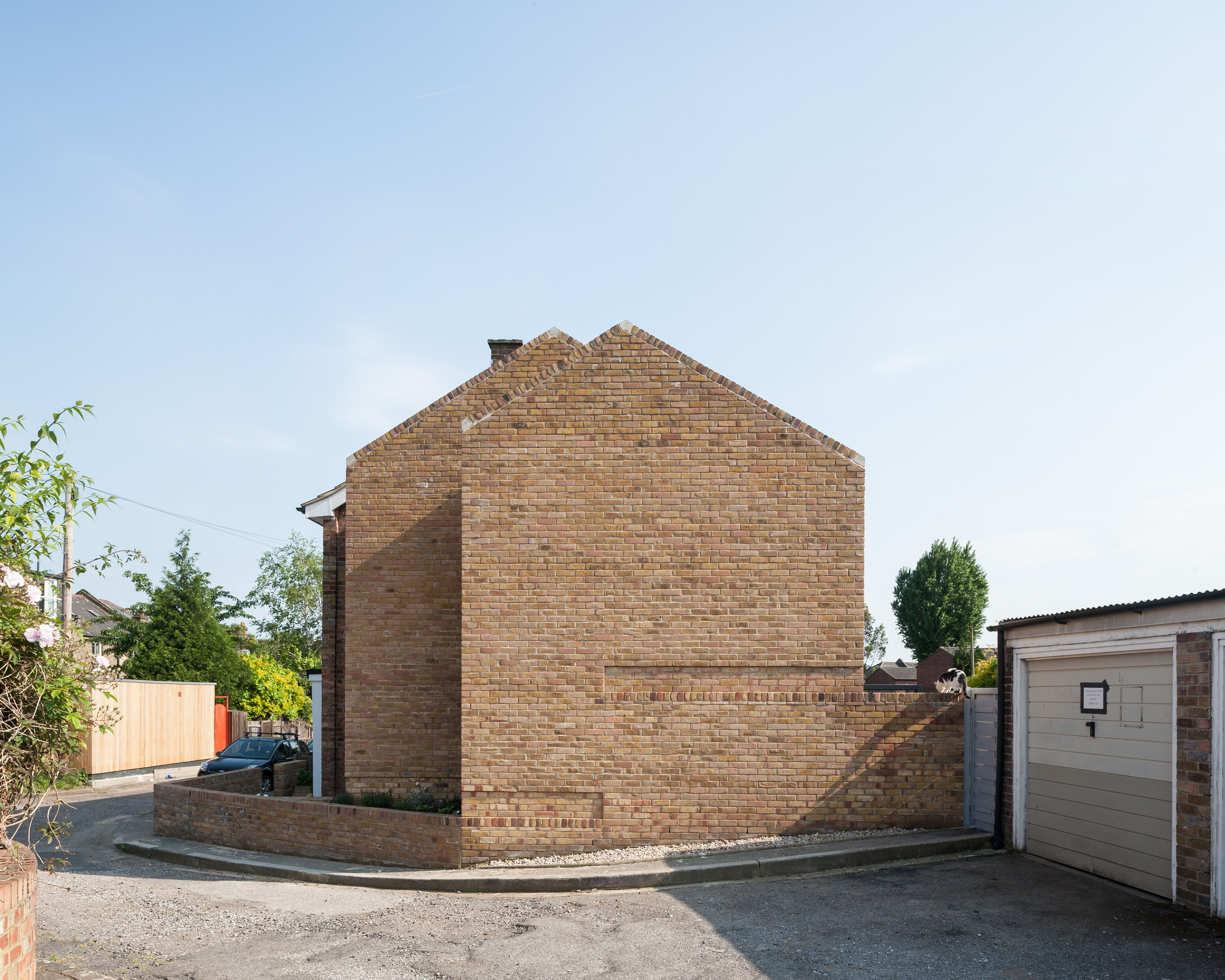fetching home extension ideas. Re imagining a 1960 s terraced house with 2 storey side extension  brick gable walls