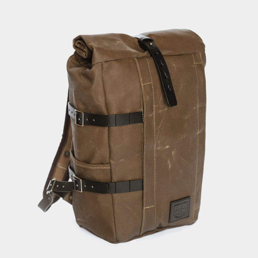 Photo of Backpack Tan Twill / Black Leather