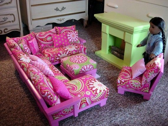Doll Couch Chairs Living Room Furniture by paynestdollboutique ...