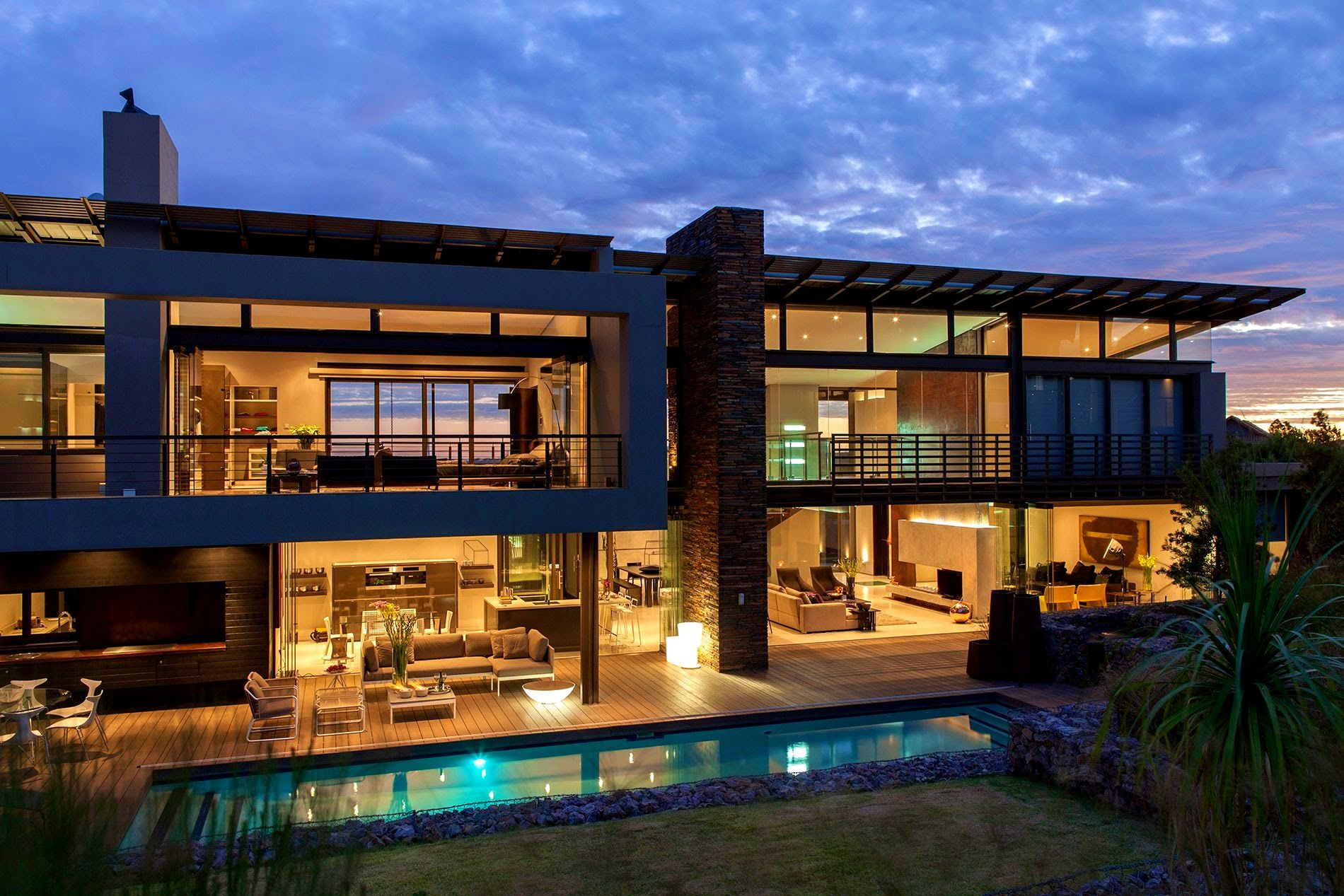Decoration Fetching Big Modern House Open Floor Plan Design