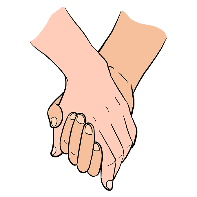 How To Draw Holding Hands Really Easy Drawing Tutorial Holding Hands Drawing How To Draw Hands Easy Drawings