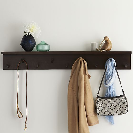 Andes Wall Mounted Coat Rack Crate And Barrel Not Much Room In My Fascinating Leigh Wall Mounted Coat Rack