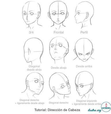 Como Dibujar Diferentes Vistas Y Direcciones De Cabeza Ilustratutoriales Como Dibujar Cuerpo Anime Como Dibujar Una Cara Dibujar Cabezas