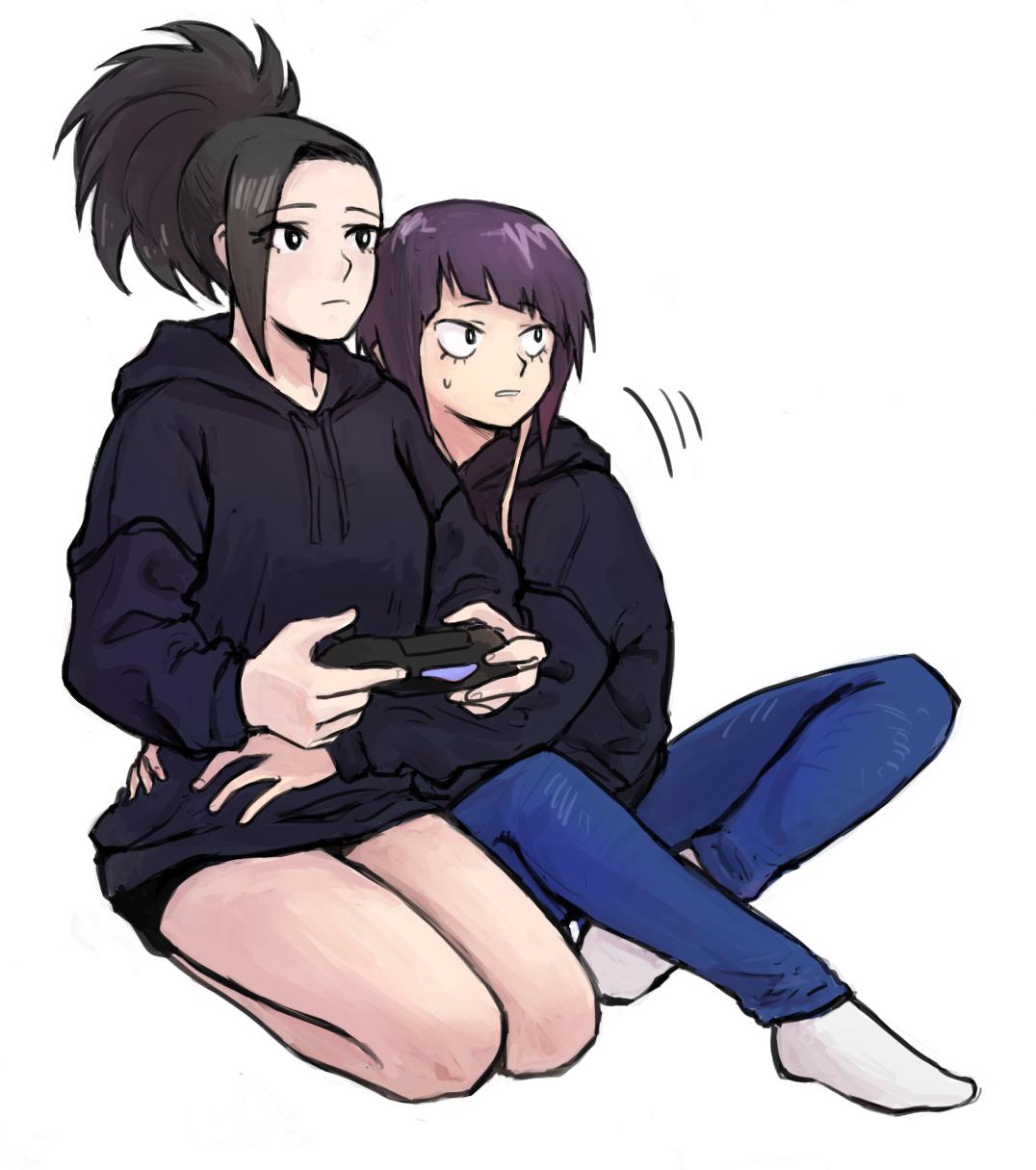 Momo and Jirou My Hero Academia mha bnha hero