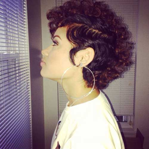 10 Pink Pixie Cuts | Curly mohawk, Curly mohawk hairstyles and Mohawks