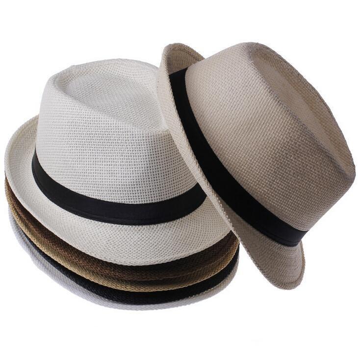 PREtty-2 Hat for Women Men Panama Straw Hats Travel Beach Sun Hat Wide Brim Fedora Jazz Hat