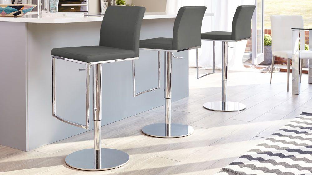 Verona Chrome Gas Lift Bar Stool Bar stools, Modern bar
