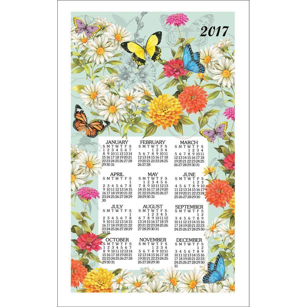Charmant Butterfly Garden 2019 Towel Calendar