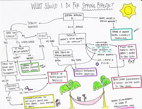 What Should I Do For Spring Break? (a flowchart) -because