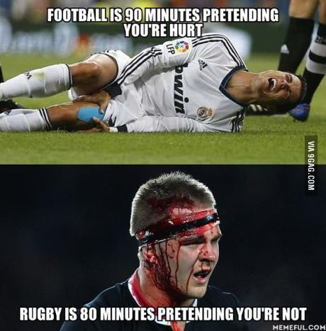 Being Predominantly A Rugby Fan This Pretty Much Sums Up How I Ve Felt So Far Watching The World Cup Rugby Memes Rugby Funny Rugby Vs Football