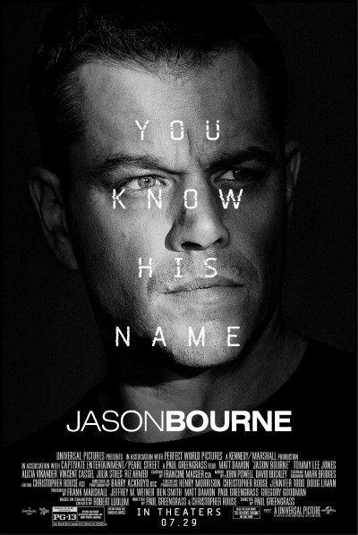 Jason Bourne 5 August 2016 Bourne Movies Jason Bourne Jason Bourne Movie