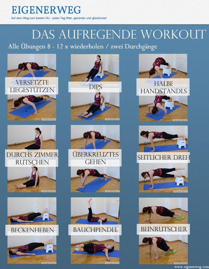 Workout Ohne Geräte Abnehmen Workout übungen