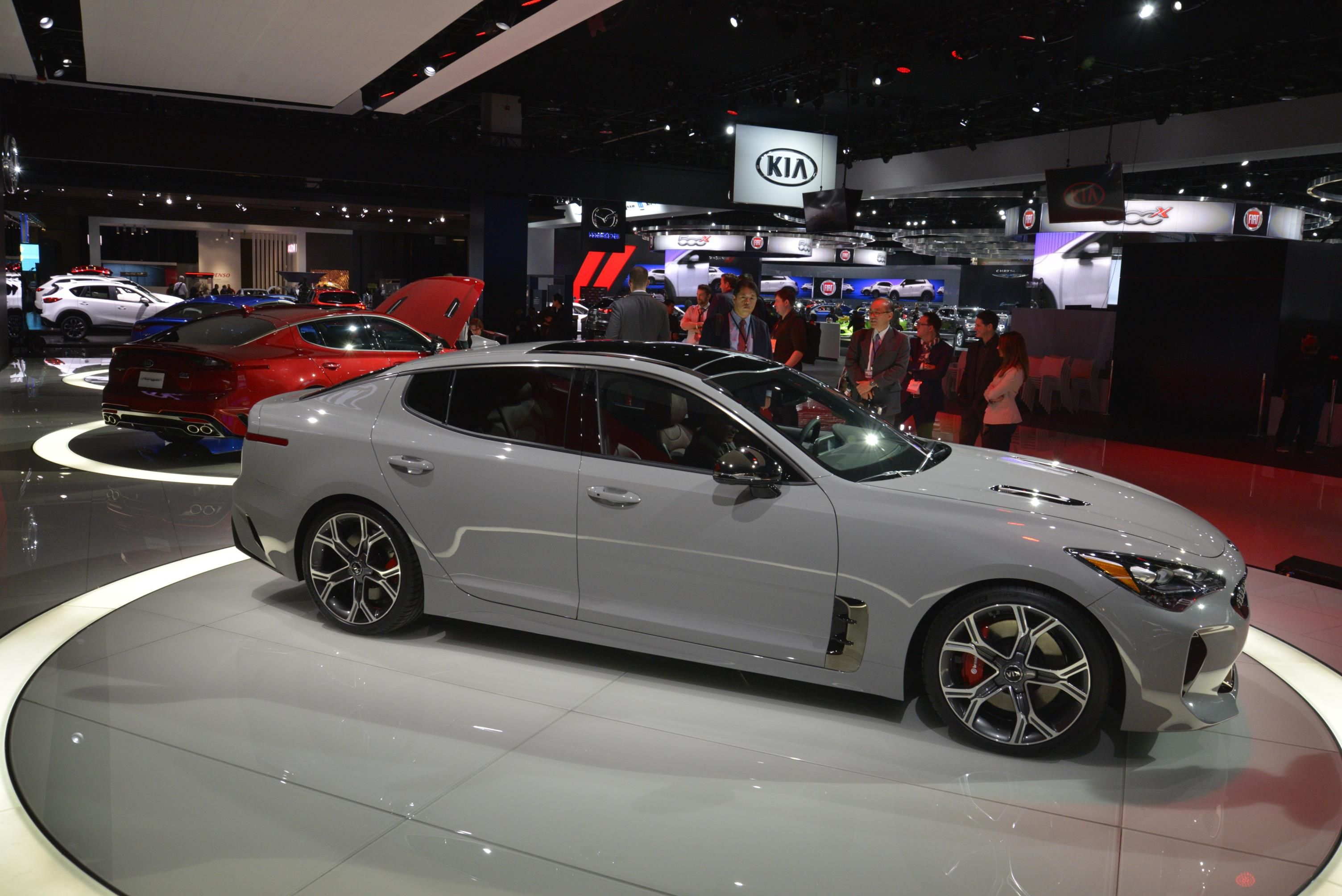 2018 Kia Stinger Looks Like A Porsche Panamera In Nardo Gray Paint 1 Jpg 3 008 2 008 Pixels Kia Stinger Kia Kia Optima