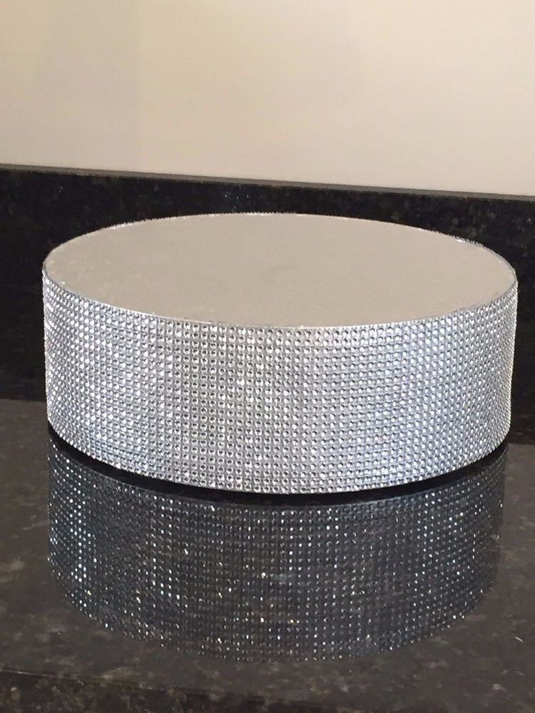 Details about crystal diamante cake stand display pedestal