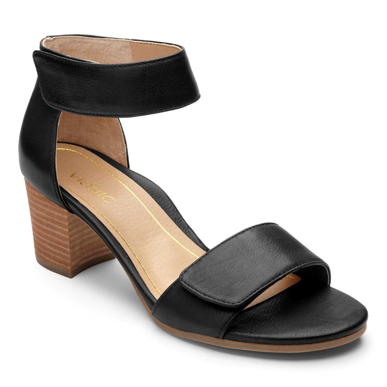 c8a762d7e7f Vionic Pep Solana - Women's Modest Block-stacked Heel Black - 6 in ...