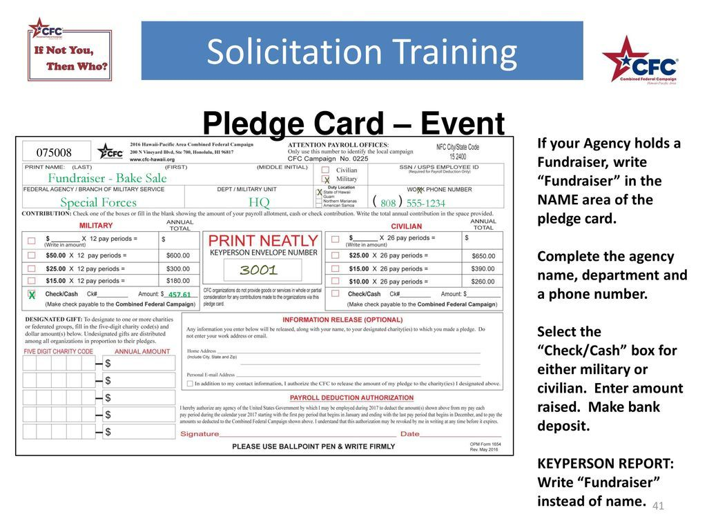 Solicitation Training Ppt Download Throughout Fundraising Pledge Card Template Professional Template Ideas Fundraising Business Template Card Template