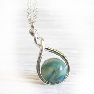 Glass cremation jewelry locked in art jewelry pinterest explore silver pendant necklace and more aloadofball Gallery