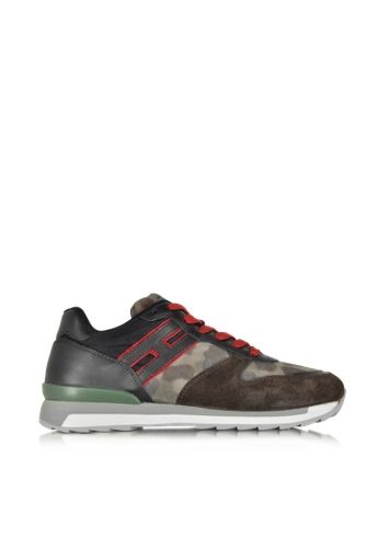 Hogan Rebel Multicolor Leather and Suede Sneaker