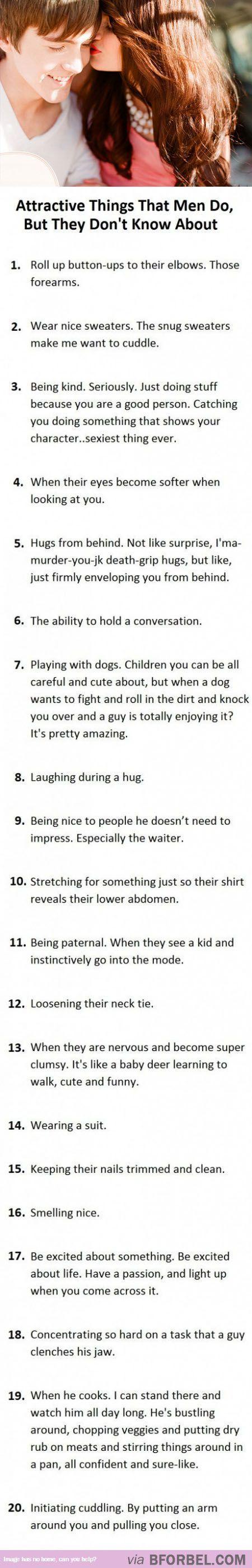 Do sexy things boys 9 Things