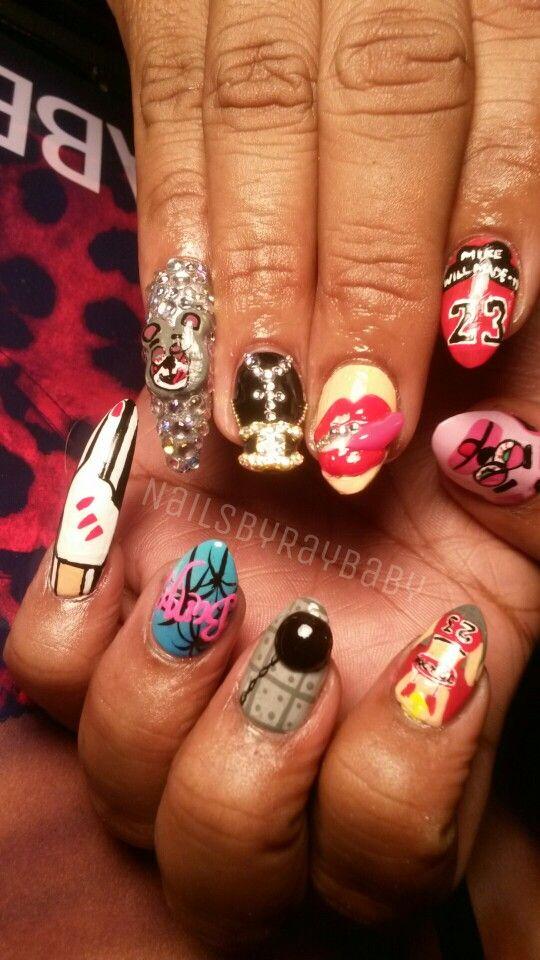 Bangerzzzzz! | Nails! | Junk nails, Painted nail art, Nails