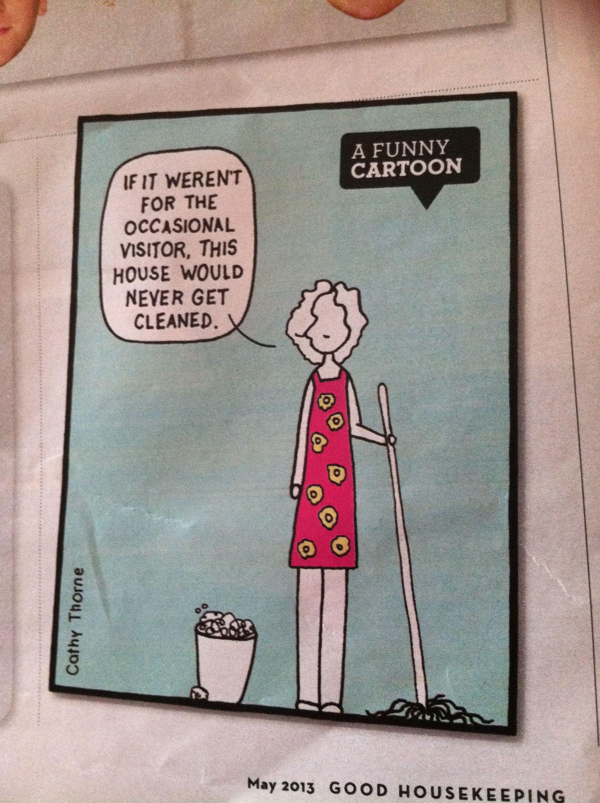 Cleaning cartoon..So true Cleaning cartoon