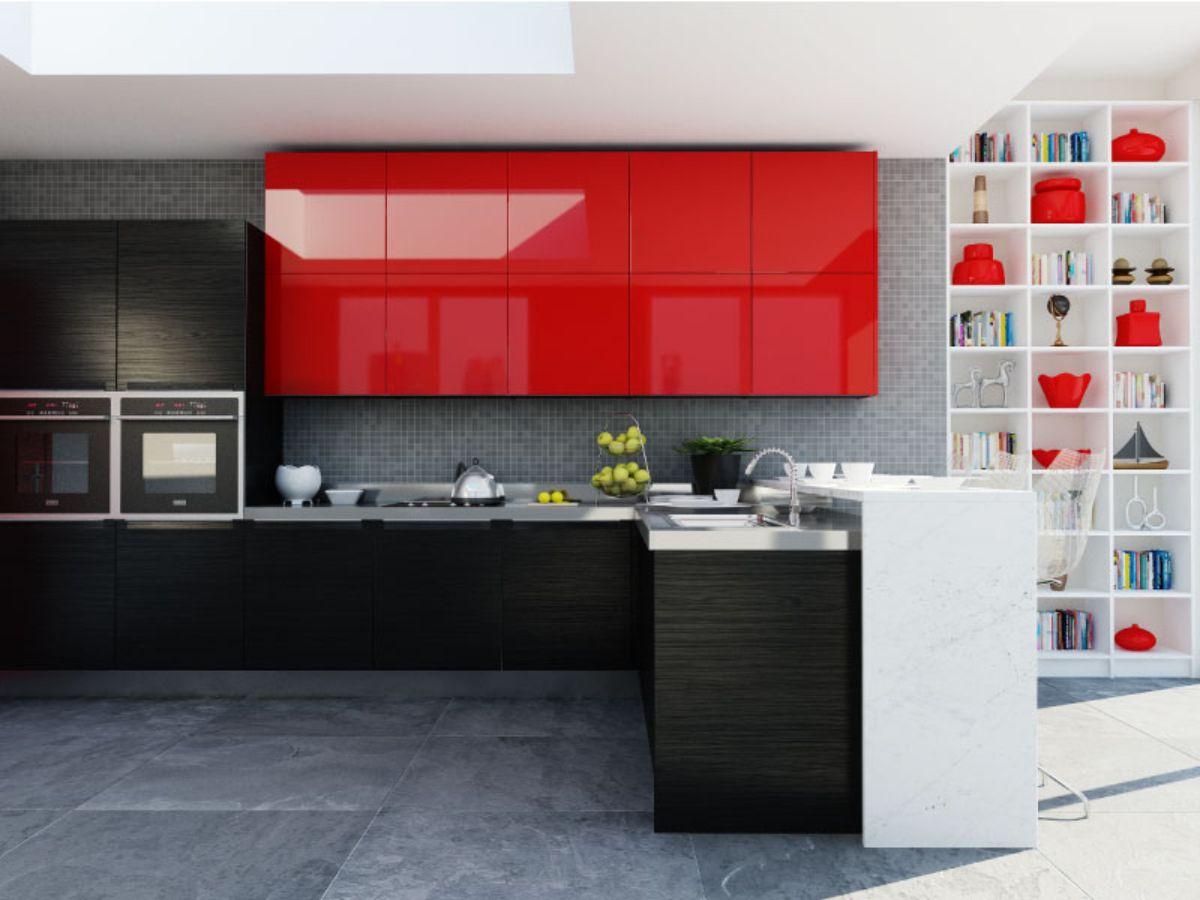 Cocinas color rojo amazing ideas de decoracion en rojo y - Cocinas en rojo ...