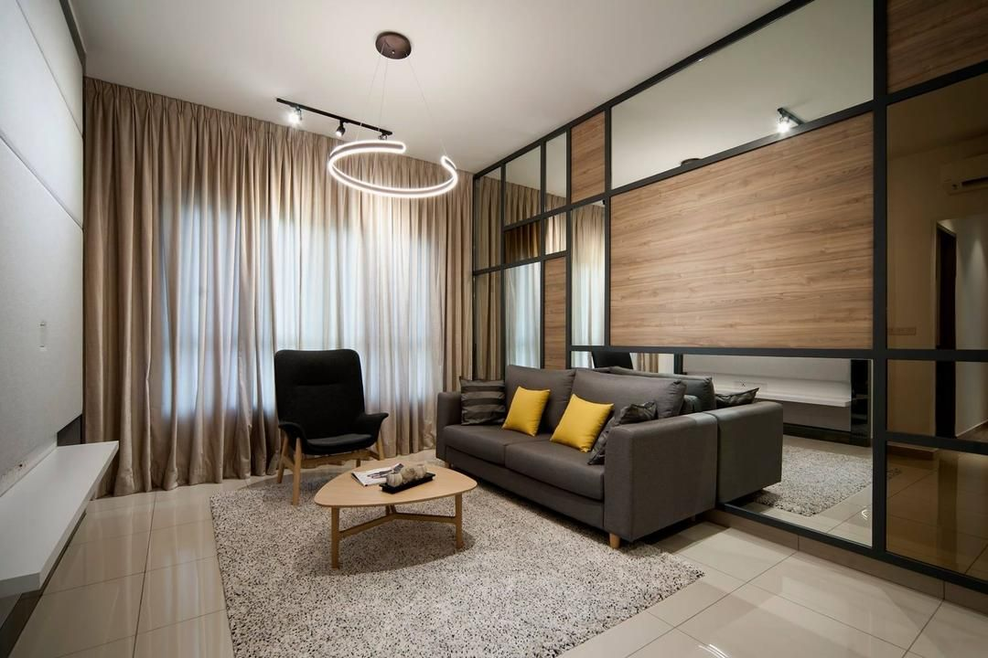 Check Out This Contemporary Style Condo Living Room And Other