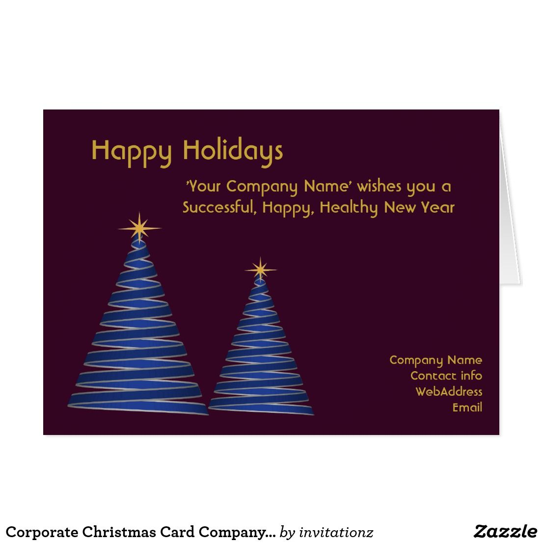 ORDER EARLY!! Custom Corporate Christmas Card Company Business Cards ...