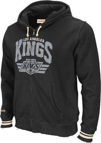 Los Angeles Kings Mitchell Ness Stadium Vintage Black Full Zip Premium Hooded Sweatshirt By Mitchell Ness 82 9 Sweatshirts Nhl Apparel Hooded Sweatshirts