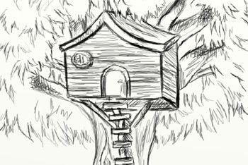 how to draw a treehouse step by step. Simple Draw How To Draw A Treehouse Step By Step Drawing In How To Draw A Treehouse Step By I