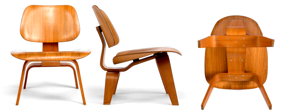 Eames curved molded plywood 'Lounge Chair' (1946) made by