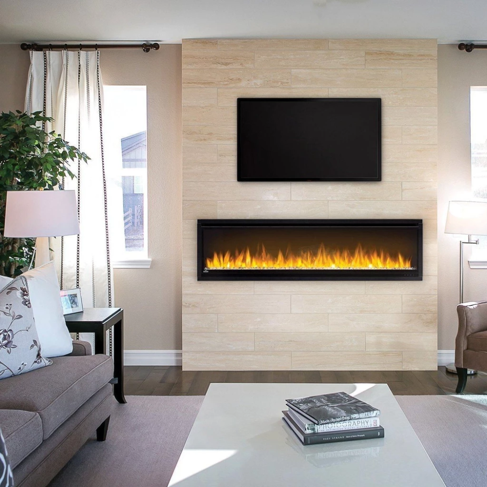 Feature Walls With Electric Fireplace And Windows Google Search Wall Mount Electric Fireplace Electric Fireplace Wall Electric Fireplace