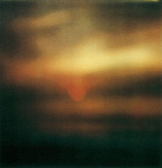 Cy Twombly, Sunset, Gaeta Dryprint on cardboard, 2009.