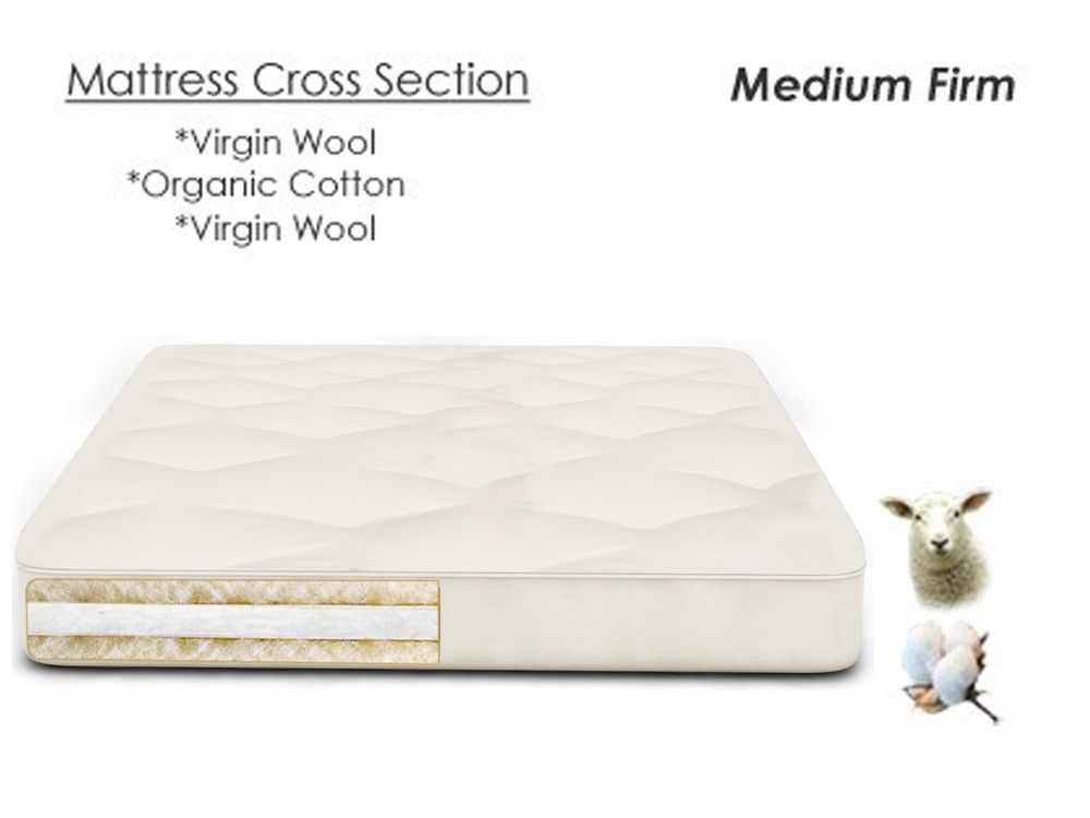 Pure Rest Wool Futon Mattress Natural And Organic Cotton The
