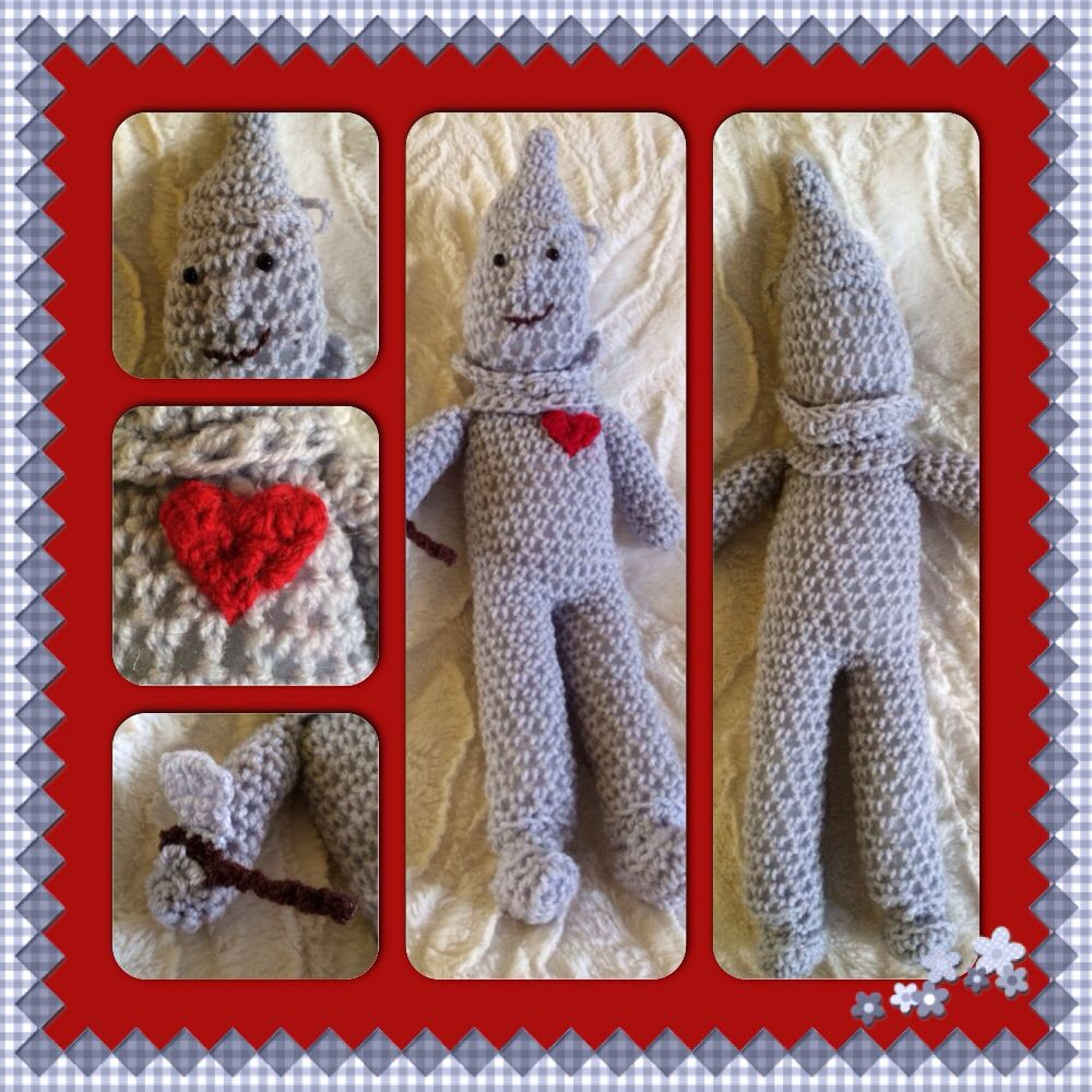 Crochet Tinman from Wizard of Oz £10