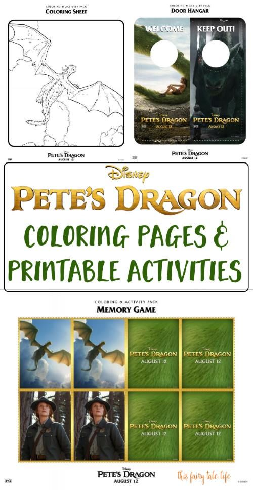 PETE\'S DRAGON Coloring Pages and Activities | Pinterest | Dragons ...