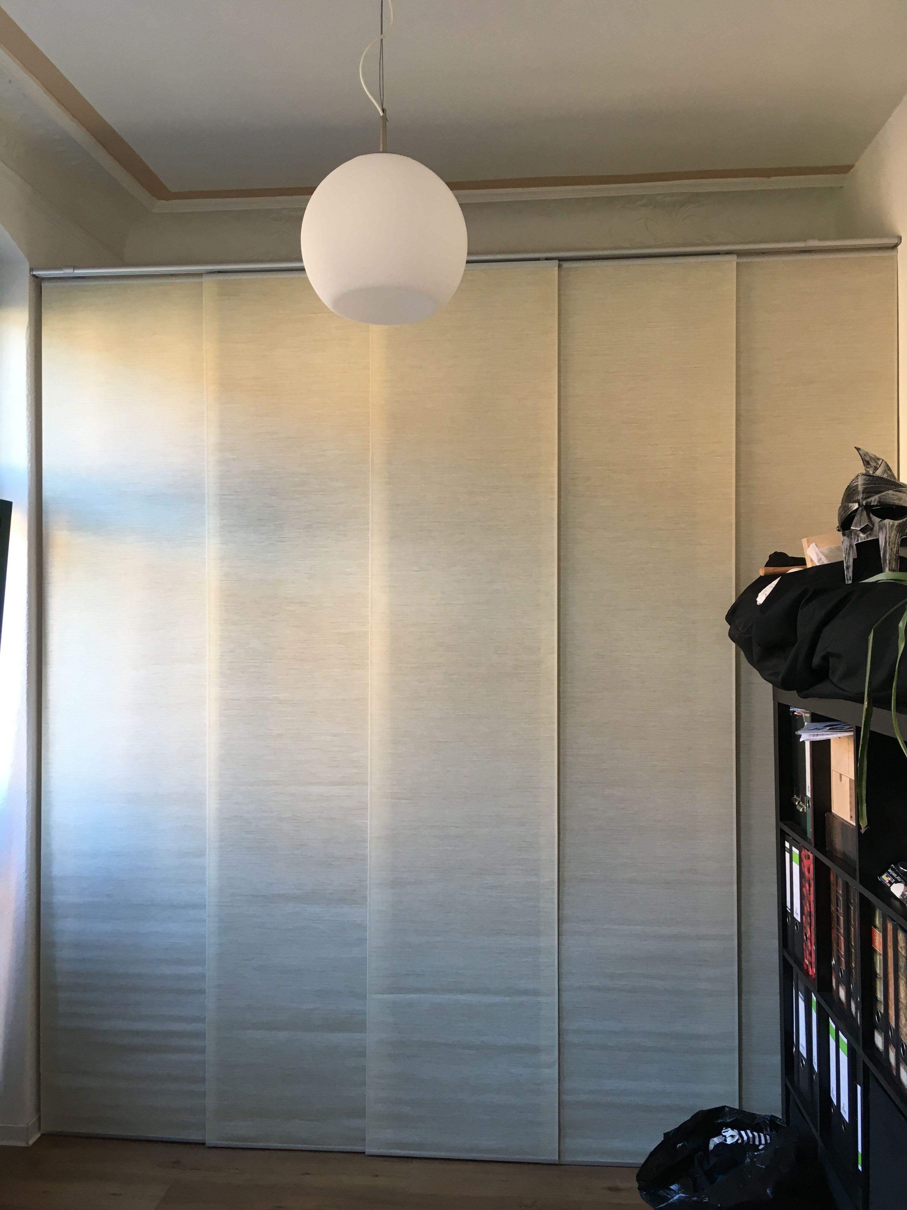Schiebevorhang Als Schranktur Schrank Dachschrage Schrank Raum Schiebevorhang