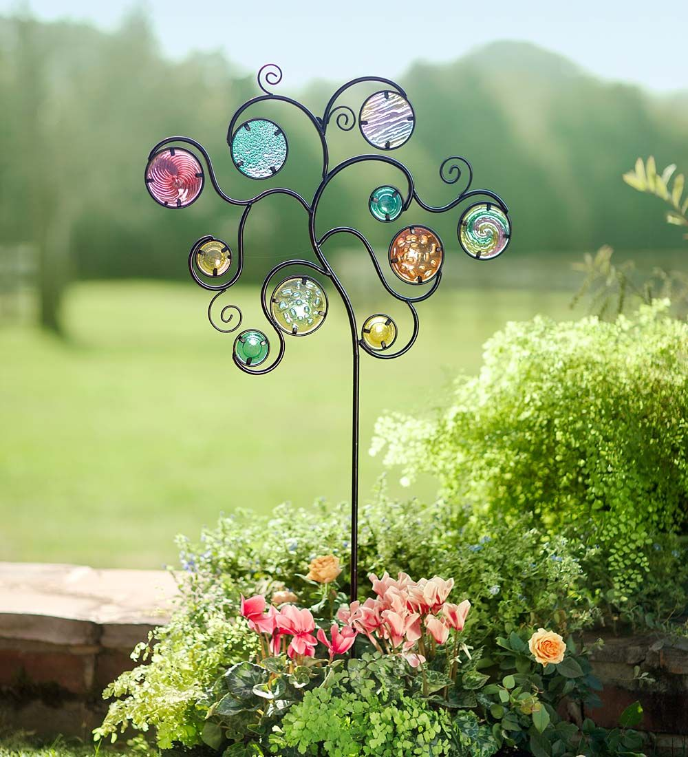 Glass Circles Garden Accent | Decorative Garden AccentsVerified ...