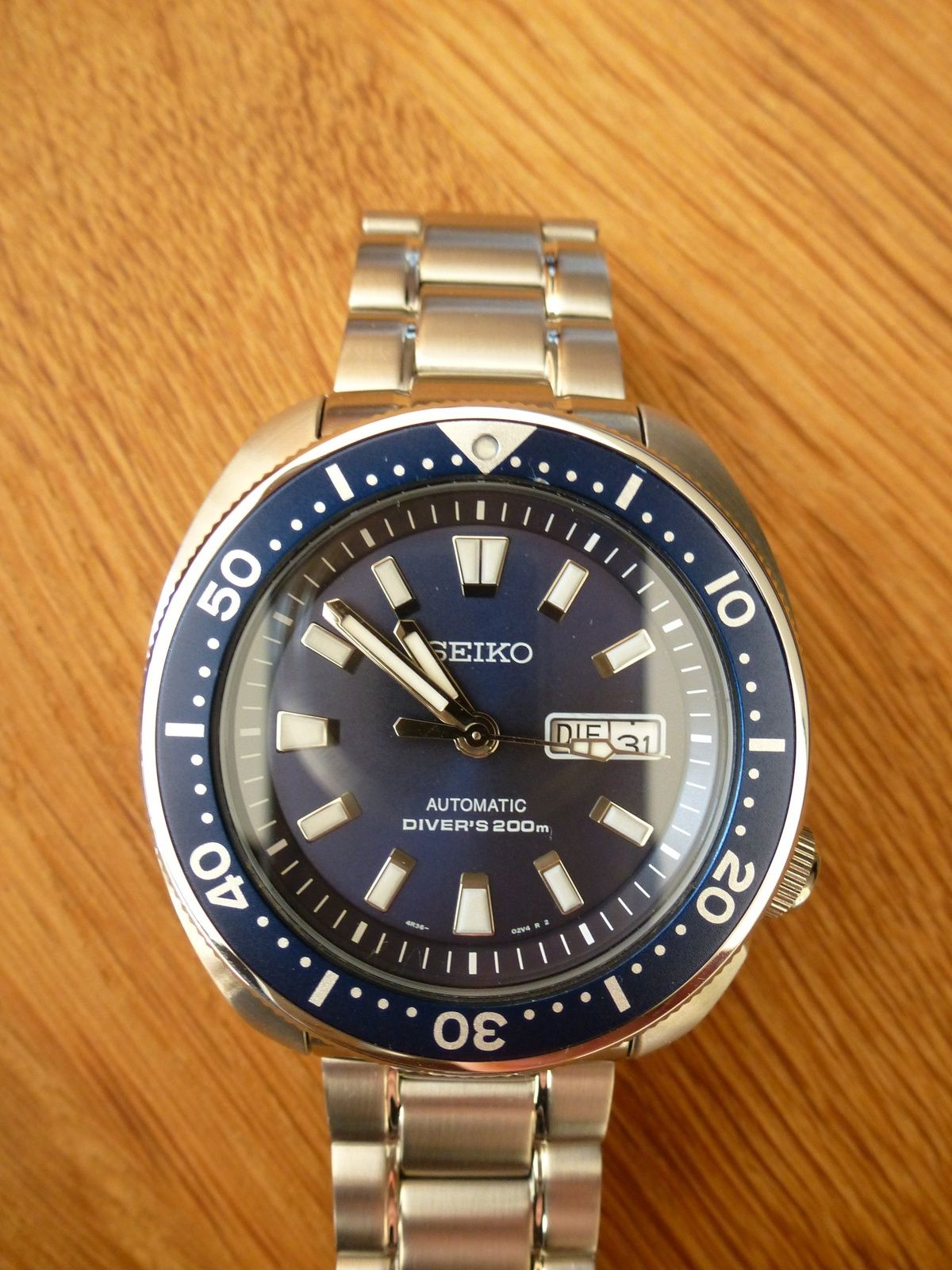 Seiko Srp773 New Turtle Mod With Stargate Srp493 Blue Dial