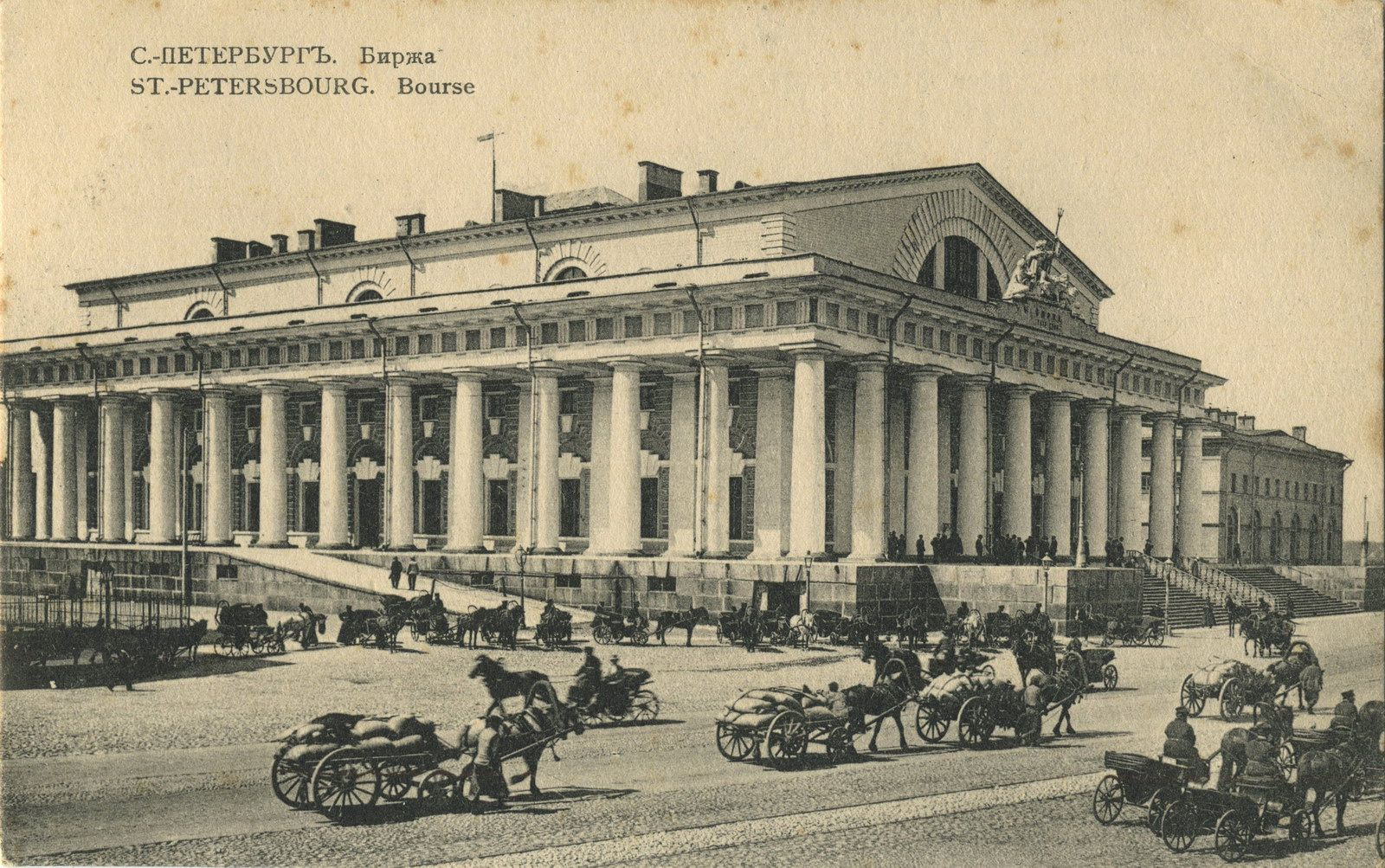 image of the exchange,st petersburg,russia by de thomon