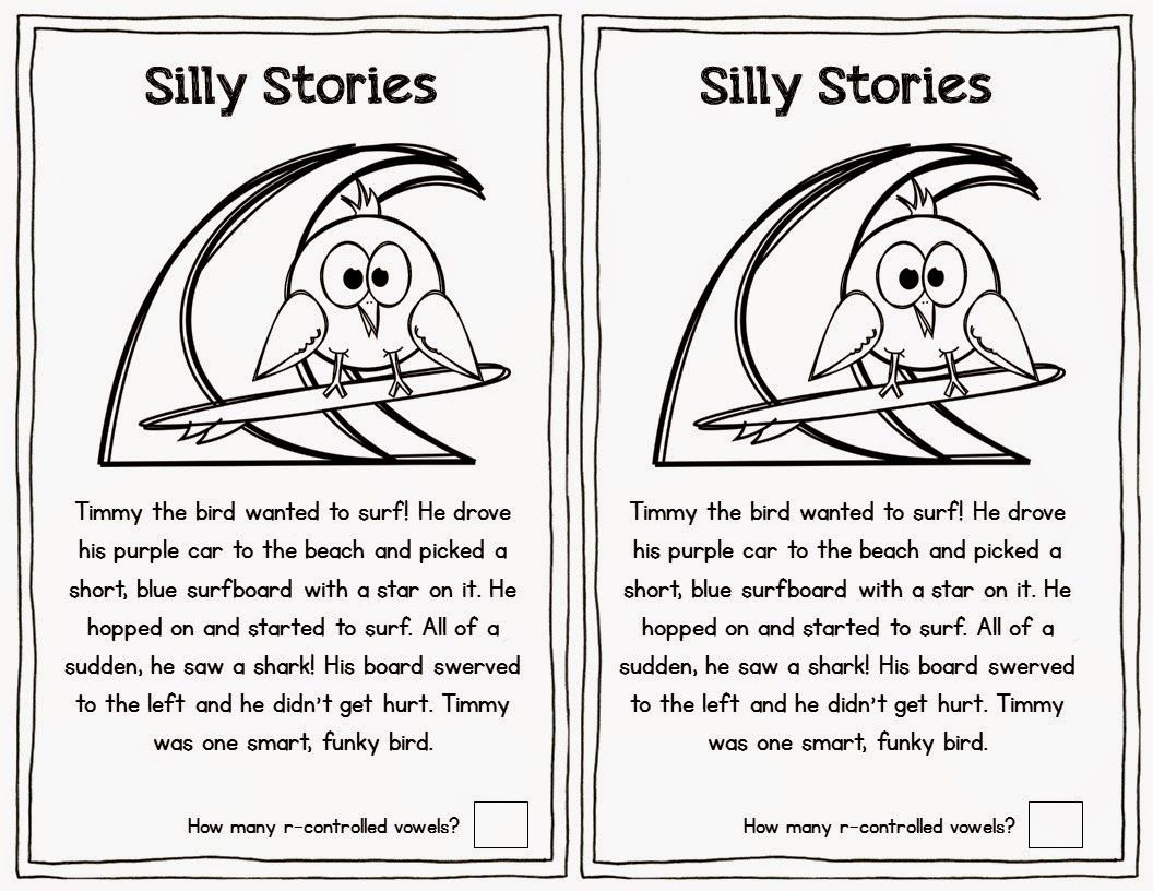 Students Read The Silly Story And Circle R Controlled Vowels