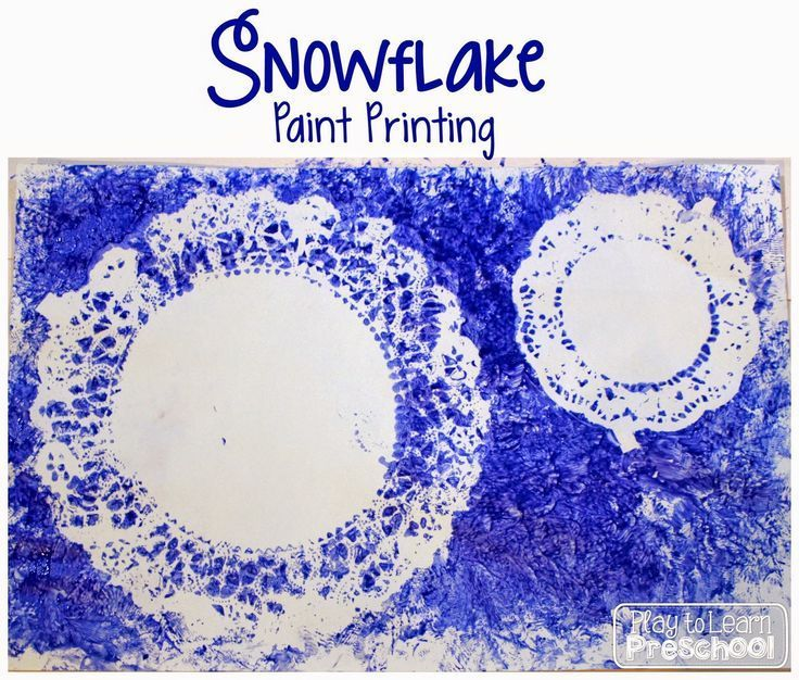 snowflake paint printing from play to learn preschool - Printing Activities For Preschoolers