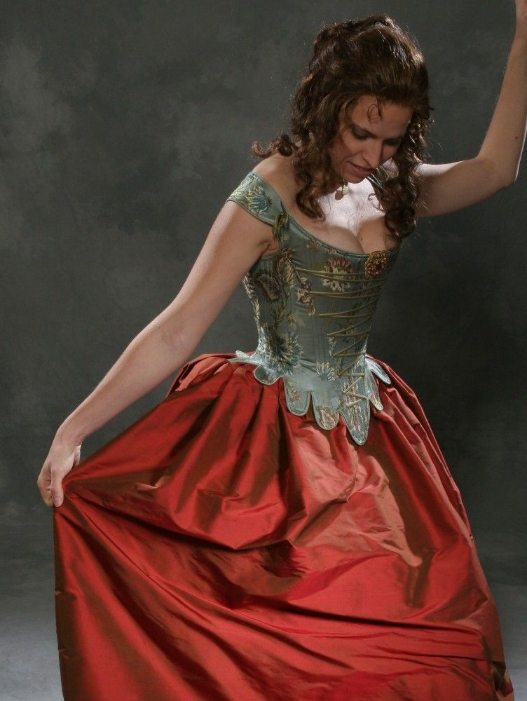 Bridal Gown Corset Ensemble free fitting and mockup Brocade corset and simple skirt
